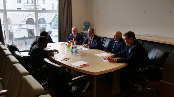 At the MCCI, a meeting was held with a representative of the Embassy of Guinea-Bissau