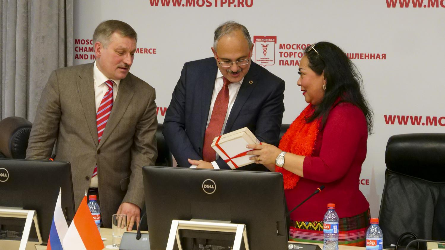 Businesses in Moscow and Indonesia are establishing contacts